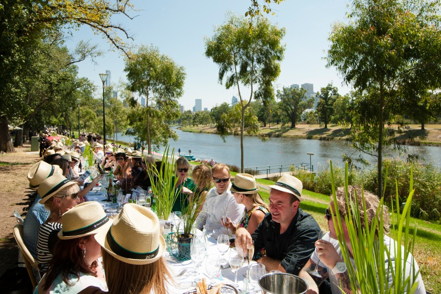 The World's Longest Lunch in Melbourne - Credit Daniel Mahon